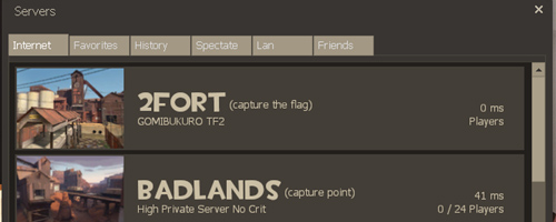 『Team Fortress 2』と『Day of Defeat: Source』用のサーバーブラウザがアップデート