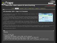 動画キャプチャソフト『FRAPS』バージョン 3.0.0 リリース