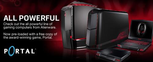 『Alienware』と『Steam』が提携、『Portal』の無料プレー権や Steam クライアントをバンドル