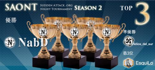 サドンアタック大会『SAONT Season 2』で NabD が優勝