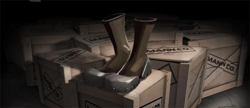 Soldier が Demoman vs Soldier 対決を制し、ロケジャンダメージを軽減できるブーツ『The Gunboats』を獲得