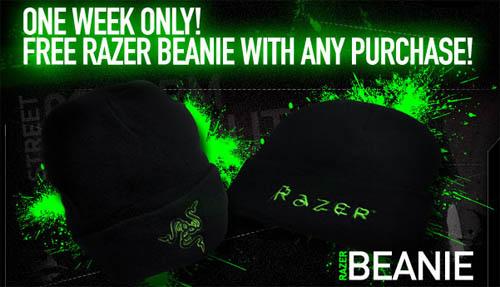 『Razer Store』で購入特典としてビーニーキャップをプレゼント中