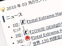 Negitaku.org 2010 年 3 月ニュースランキング