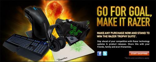 ゲーミングデバイスや割引クーポンが毎日 1 名に当たる『Go for Goal, Make it Razer.』キャンペーン実施中