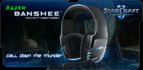 StarCraft II 向けのゲーミングヘッドセット『Razer Banshee StarCraft II Gaming Headset』発表