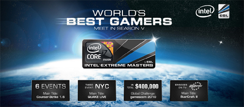 『StarCraft II: Wings of Liberty』が『Intel Extreme Masters Season V』の競技タイトルに採用