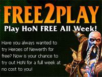 『Heroes of Newerth』を無料でプレーできる Free2Play week キャンペーン実施中