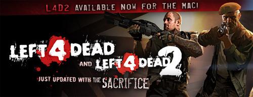 Left 4 Dead と Left 4 Dead 2 の DLC『The Sacrifice』リリース、アップデートを記念した66% 割引販売実施中