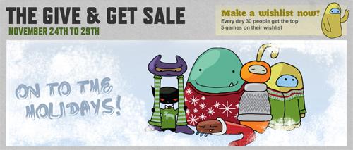 "Steam ""Give & Get"" セールにて、最終日の割引ゲーム販売中"