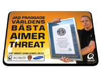 『EGT ONOFF Challenge 2010』の賞品にゲーミングマウスパッド QPAD CT threat モデル登場