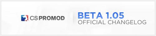 『CSPromod Beta 1.05』変更点リスト
