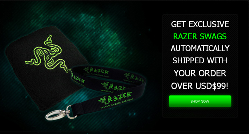 アジア・パシフィック版『Razer Store』が 99 ドル 上の買い物で Razer Lanyard と Razer Wrist Band が特典となるキャンペーンを実施中