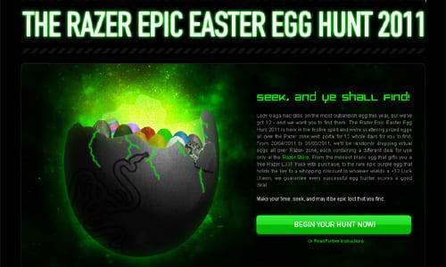 北米の『Razer Store』で『Razer Easter Egg Hunt』キャンペーン実施中