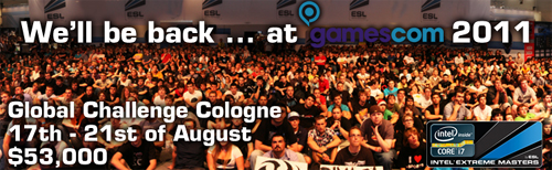 『Intel Extreme Masters Season VI Global Challenge Cologne』のグループ分け決定