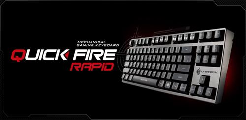 Cherry 社の黒軸、青軸、茶軸を採用したゲーミングキーボード『CM Storm QuickFire Rapid』