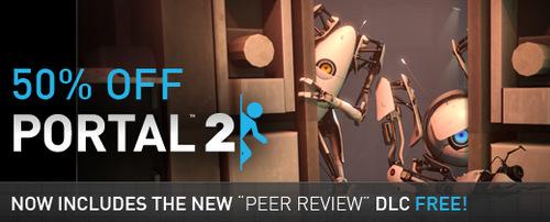 『Portal2』の無料 DLC『Peer Review』リリース、Steam にて 50% 割引セール実施中