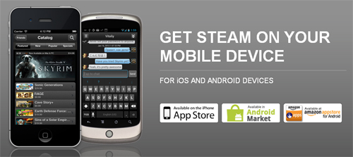 『Steam』の機能を iOS & Android 端末から利用できるアプリ『Steam Mobile』が無料公開