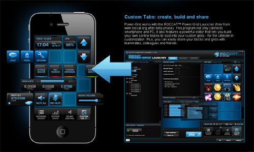 PC やゲーミングデバイスと連動させることができるスマートフォンアプリ『ROCCAT PowerGrid』のベータテスト開始