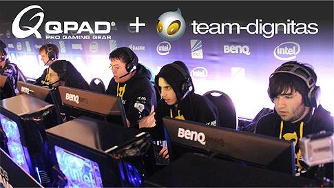 『QPAD』がプロゲームチーム Team Dignitas のスポンサーに