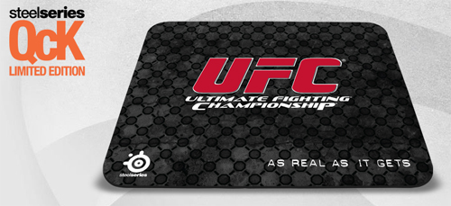 『SteelSeries』が総合格闘技『Ultimate Fighting Championship』とコラボしたゲーミングマウスパッド『SteelSeries QcK UFC Edition』を発表