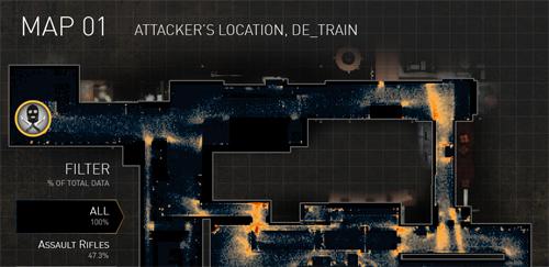 『Counter-Strike: Global Offensive(CS:GO)』開発チームが 650 万ショットを統計して作成した de_train のヒートマップデータを公開