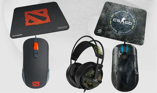 SteelSeries が『Counter-Strike: Global Offensive』『DOTA 2』モデルのゲーミングマウス、ゲーミングマウスパッド、ゲーミングヘッドセットを発表