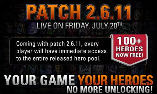 『Heroes of Newerth』が仕様を変更し、100 を超えるヒーローを無料で使用可能に