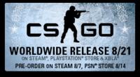 Steam で『Counter-Strike: Global Offensive』の予約受付開始、予約購入者は8月14日からのβテストへ参加可能に