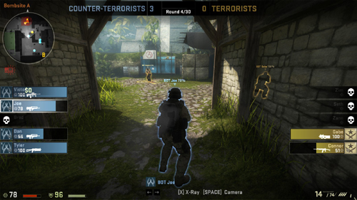 『Counter-Strike: Global Offensive』アップデート(2012-08-30)、競技向けの観戦ユーザーインターフェースを実装