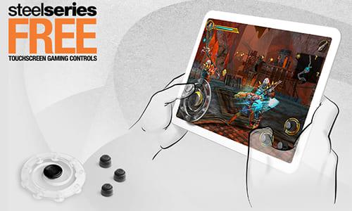 『SteelSeries』がタッチデバイスでのゲーム操作を容易にするモバイルゲーミングアクセサリ『SteelSeries Free Touchscreen Gaming Controls』をリリース