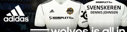 スポーツ用品メーカーの『アディダス』がプロゲームチーム『Copenhagen Wolves』のスポンサーに