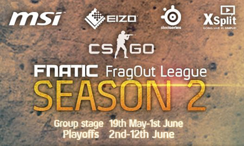 『Fnatic FragOut CS:GO League Season 2』が5月19日より開催