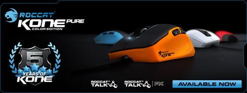 ゲーミングマウス『ROCCAT Kone』5周年モデル『ROCCAT Kone Pure Color』が7/1(月)より国内販売開始