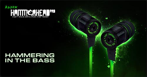 『Razer』が軽量で頑丈なゲーム用イヤフォン『Razer Hammerhead Pro In-Ear Headphones』を発表