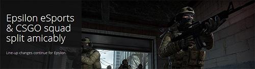 EpsilonがCounter-Strike: Global Offensiveチームの解散を発表