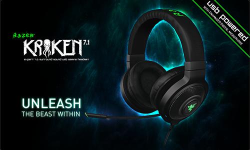 『Razer』が7.1 ch サラウンドサウンド対応のUSBゲーミングヘッドセット『Razer Kraken 7.1』を発表