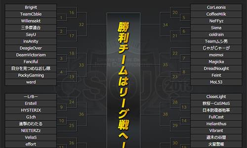 世界大会『CSOWC2013』予選となる『Counter-Strike Online Japan Championship 2013(CSOJC 2013)』のトーナメント表発表