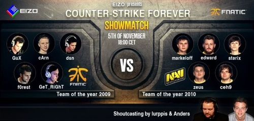 ショーマッチ『EIZO Presents: CS Forever – Fnatic 2009 vs Na`Vi 2010』でNa`Vi 2010が勝利
