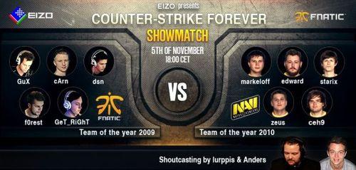 ショーマッチ『EIZO Presents: CS Forever – Fnatic 2009 vs Na`Vi 2010』の公式試合録画ムービーが公開