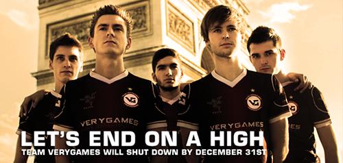 Counter-Strike: Global Offensiveのプロゲームチーム Team VeryGames が2013年で活動を終了