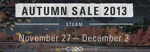 Steamにてゲームを特価で購入できる『Steam Autumn Sale 2013』が開催中
