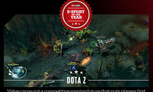 『DOTA2』が雑誌「PC Gamer」にて「E-sport of the Year」を獲得