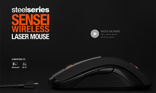 『SteelSeries』がワイヤレス式ゲーミングマウス『SteelSeries Sensei Wireless』を発表