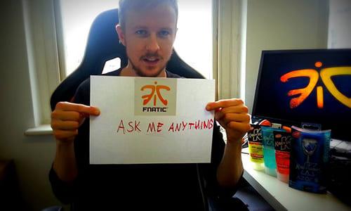 プロゲームチームFnaticのChief Gaming Officerを務めるcArn氏がredditにて質問を受付けるAMAを実施中