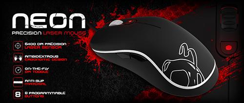 『Ozone Gaming』が左右対称型のレーザーセンサー搭載ゲーミングマウス『Ozone Neon Gaming Mouse』を発表