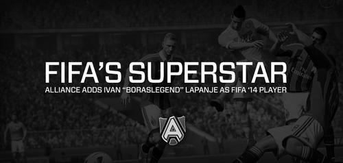 """プロゲームチーム Alliance がFIFAシリーズの世界王者 Ivan """"Boraslegend"""" Lapanje 選手と契約しFIFA部門の設立を発表"""