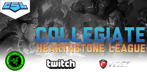 『Hearthstone: Heroes of Warcraft』の大学生リーグ『Collegiate Hearthstone: Heroes of Warcraft League』が3月よりアメリカで開催
