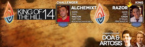 『IHearthU.com Hearthstone KoTH #14』で挑戦者のAlchemixtが王者のRazorに勝利
