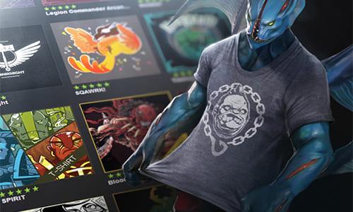 Dota 2 Workshopにて世界大会『The International 4』で販売されるポスター、Tシャツのデザイン案を募集中