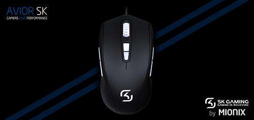 ゲーミングマウス『Mionix AVIOR SK』リリース、光学式センサー搭載のプロゲームチームSK Gamingモデル